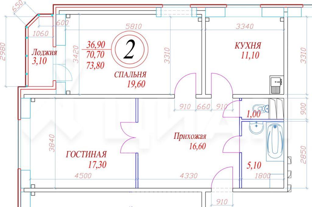 Продажа двухкомнатной квартиры село Рождествено, метро Тушинская, Рождественский бульвар 7, цена 3900000 рублей, 2021 год объявление №352642 на megabaz.ru