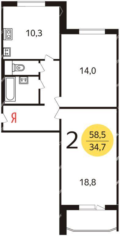 Продажа двухкомнатной квартиры Москва, метро Бульвар адмирала Ушакова, Южнобутовская улица 12, цена 10900000 рублей, 2020 год объявление №433305 на megabaz.ru