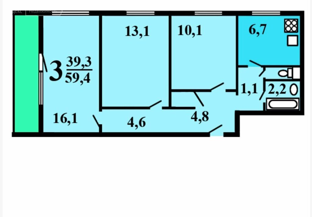 Продажа трёхкомнатной квартиры Москва, метро Алексеевская, проспект Мира 110/2, цена 13000000 рублей, 2020 год объявление №396572 на megabaz.ru