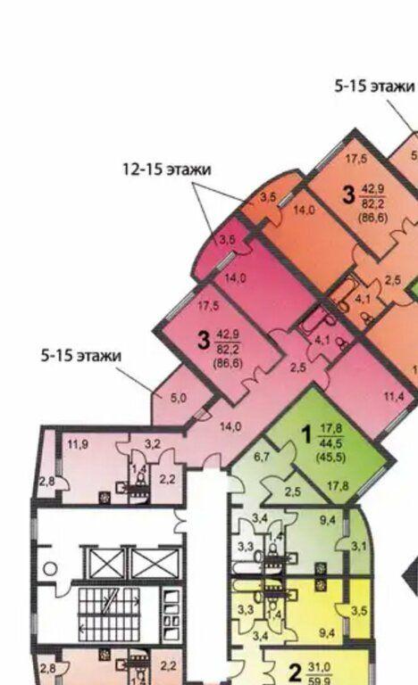 Продажа трёхкомнатной квартиры Москва, метро Перово, Перовская улица 66к2, цена 18900000 рублей, 2021 год объявление №582264 на megabaz.ru