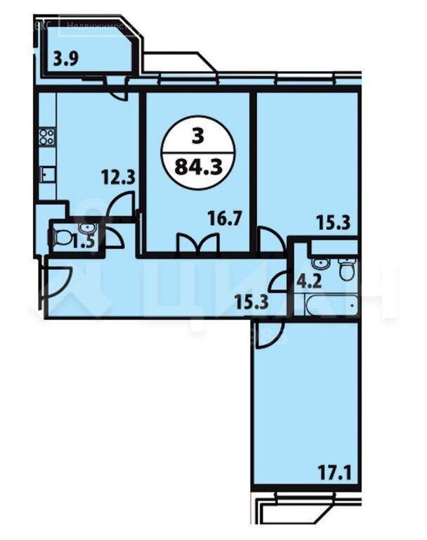 Продажа трёхкомнатной квартиры Видное, метро Домодедовская, Завидная улица 10, цена 12900000 рублей, 2020 год объявление №404548 на megabaz.ru