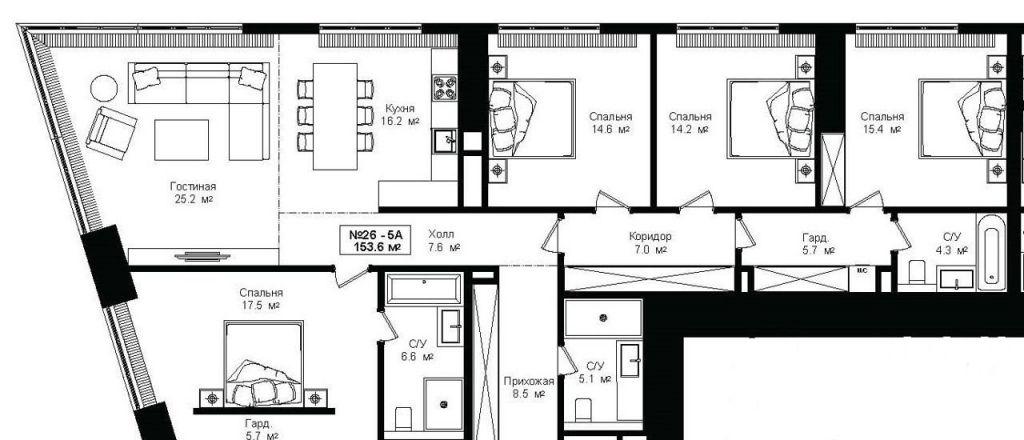 Продажа пятикомнатной квартиры Москва, метро Выставочная, цена 98000000 рублей, 2020 год объявление №398844 на megabaz.ru