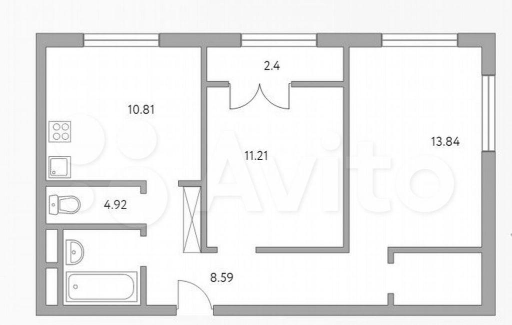 Продажа двухкомнатной квартиры деревня Глухово, улица Рублёвское Предместье 1Б, цена 5699999 рублей, 2021 год объявление №689173 на megabaz.ru