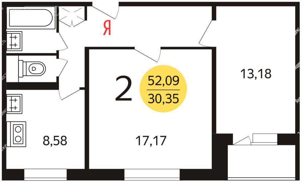 Аренда двухкомнатной квартиры Москва, метро Южная, Чертановская улица 28к1, цена 37000 рублей, 2020 год объявление №1055299 на megabaz.ru