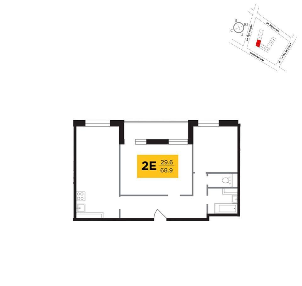 Продажа двухкомнатной квартиры Москва, метро Рязанский проспект, улица Михайлова, цена 13900000 рублей, 2020 год объявление №435527 на megabaz.ru