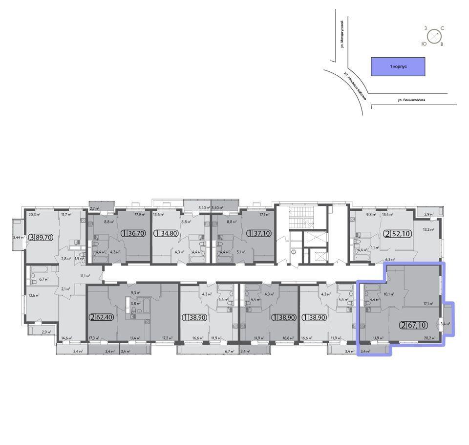 Продажа двухкомнатной квартиры Москва, метро Выхино, цена 13800000 рублей, 2020 год объявление №435515 на megabaz.ru