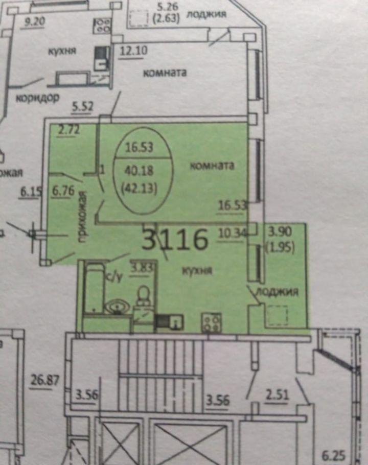 Продажа однокомнатной квартиры поселок Биокомбината, цена 2900000 рублей, 2020 год объявление №442304 на megabaz.ru