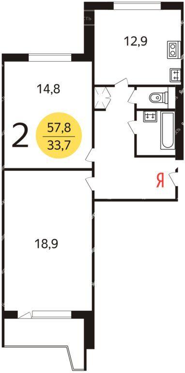 Продажа двухкомнатной квартиры Москва, метро Улица Скобелевская, Скобелевская улица 32, цена 9500000 рублей, 2020 год объявление №401847 на megabaz.ru