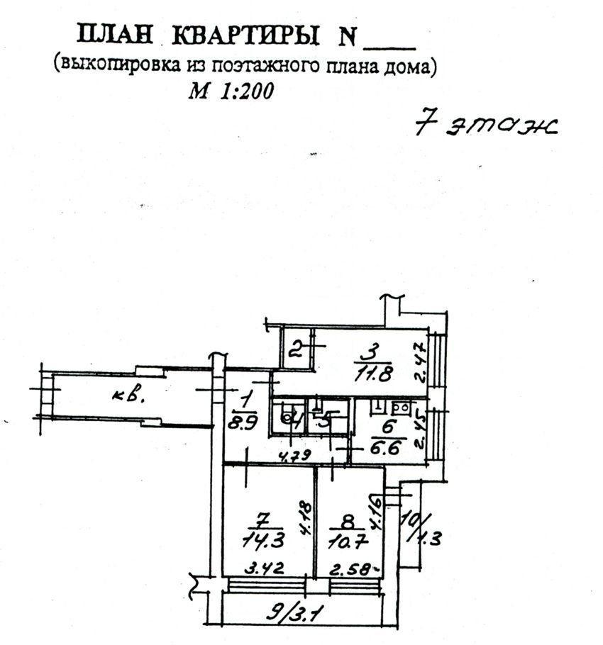 Продажа трёхкомнатной квартиры Пущино, цена 4400000 рублей, 2021 год объявление №465860 на megabaz.ru