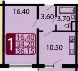 Продажа однокомнатной квартиры село Домодедово, улица Творчества 5к2, цена 4200000 рублей, 2020 год объявление №504954 на megabaz.ru