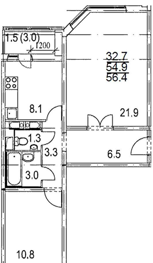 Аренда двухкомнатной квартиры Москва, метро Беговая, улица Полины Осипенко 2к2, цена 50000 рублей, 2020 год объявление №1064061 на megabaz.ru