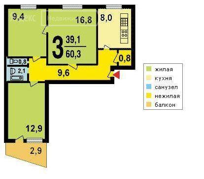 Продажа трёхкомнатной квартиры Москва, метро Первомайская, улица Чечулина 18, цена 9500000 рублей, 2020 год объявление №406877 на megabaz.ru