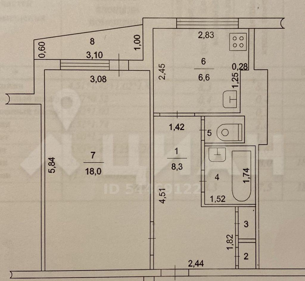 Продажа однокомнатной квартиры Яхрома, цена 2200000 рублей, 2020 год объявление №449147 на megabaz.ru