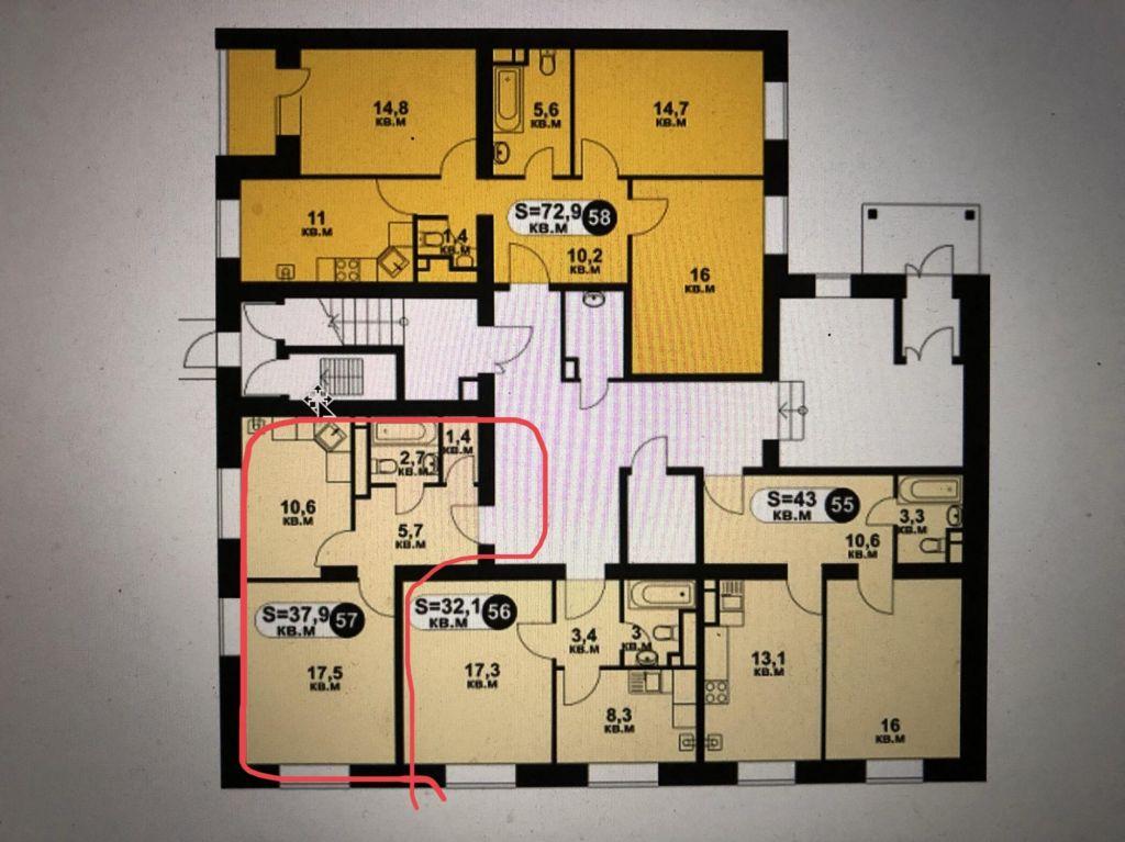Продажа однокомнатной квартиры село Озерецкое, цена 2750000 рублей, 2021 год объявление №407722 на megabaz.ru