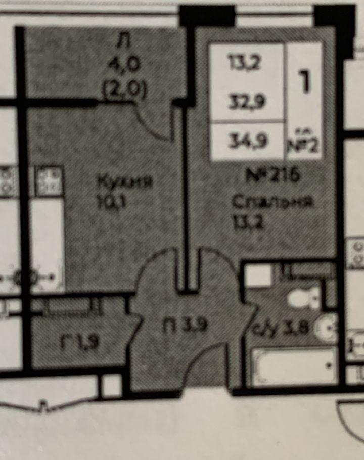 Продажа однокомнатной квартиры село Воскресенское, цена 5850000 рублей, 2020 год объявление №427531 на megabaz.ru