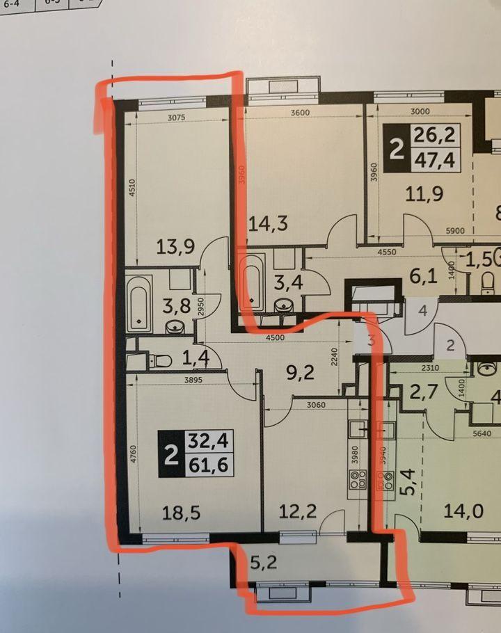 Продажа двухкомнатной квартиры поселок Развилка, метро Красногвардейская, цена 9800000 рублей, 2021 год объявление №432378 на megabaz.ru