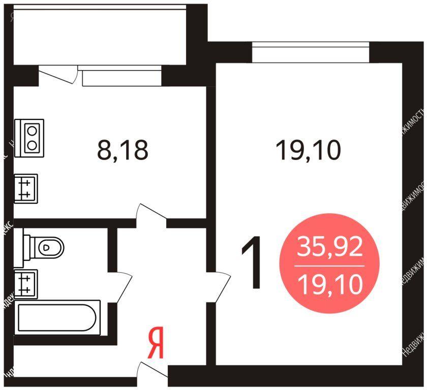 Продажа однокомнатной квартиры Москва, метро Алтуфьево, Новгородская улица 11к2, цена 6600000 рублей, 2020 год объявление №448420 на megabaz.ru