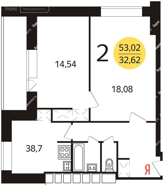 Продажа двухкомнатной квартиры Москва, метро Рязанский проспект, улица Академика Скрябина 3к7, цена 9990000 рублей, 2021 год объявление №482146 на megabaz.ru