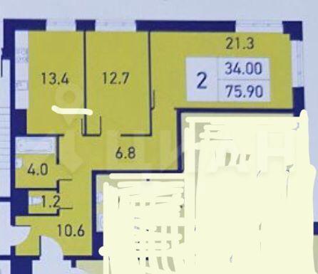 Продажа двухкомнатной квартиры Реутов, метро Новокосино, проспект Мира 12к1, цена 8350000 рублей, 2020 год объявление №504192 на megabaz.ru
