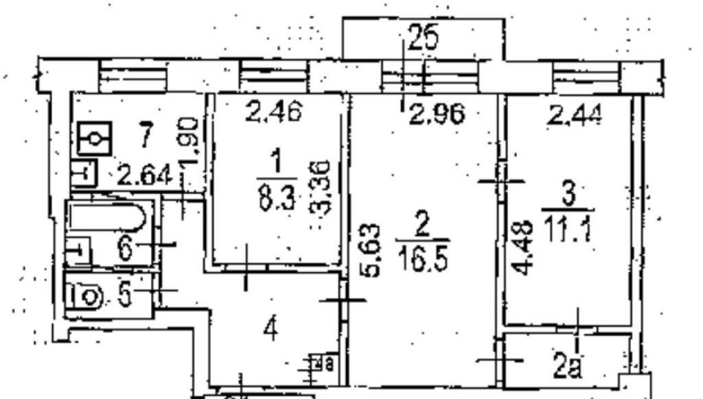 Продажа трёхкомнатной квартиры Москва, метро Автозаводская, улица Трофимова 6А, цена 6500000 рублей, 2021 год объявление №451861 на megabaz.ru