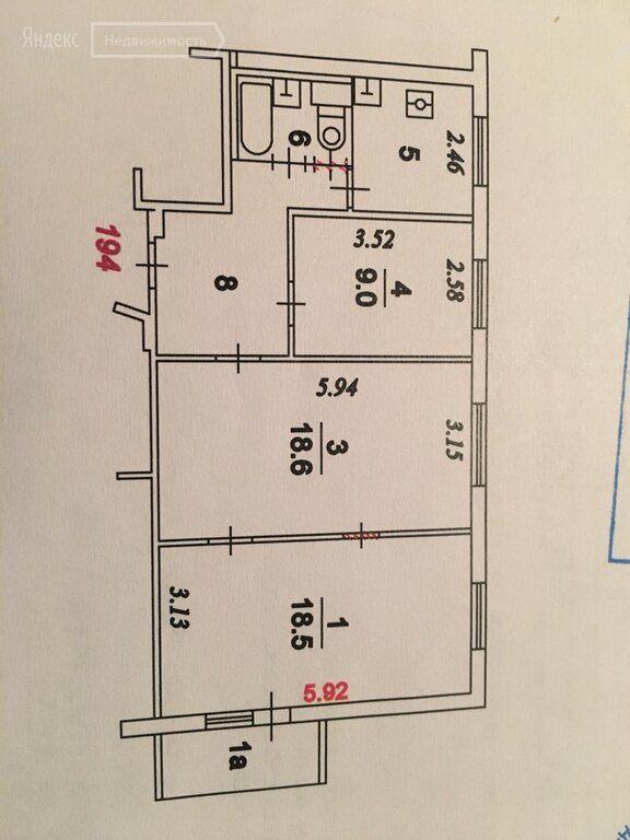 Аренда трёхкомнатной квартиры Москва, метро Рязанский проспект, 4-я Новокузьминская улица 9к1, цена 54000 рублей, 2021 год объявление №1335578 на megabaz.ru
