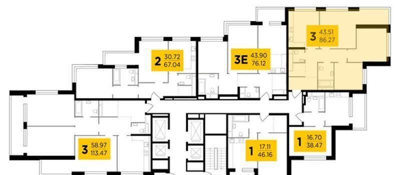 Продажа трёхкомнатной квартиры Москва, метро Автозаводская, Восточная улица 4к1с6, цена 21000000 рублей, 2021 год объявление №422279 на megabaz.ru