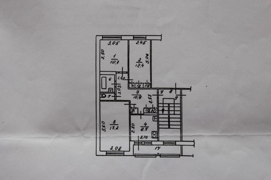 Продажа трёхкомнатной квартиры поселок Рылеево, цена 3600000 рублей, 2020 год объявление №380670 на megabaz.ru