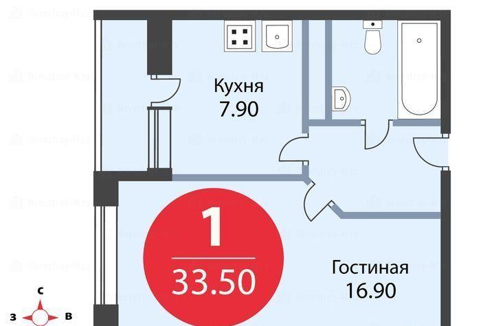 Продажа однокомнатной квартиры деревня Щемилово, цена 2550000 рублей, 2020 год объявление №490024 на megabaz.ru