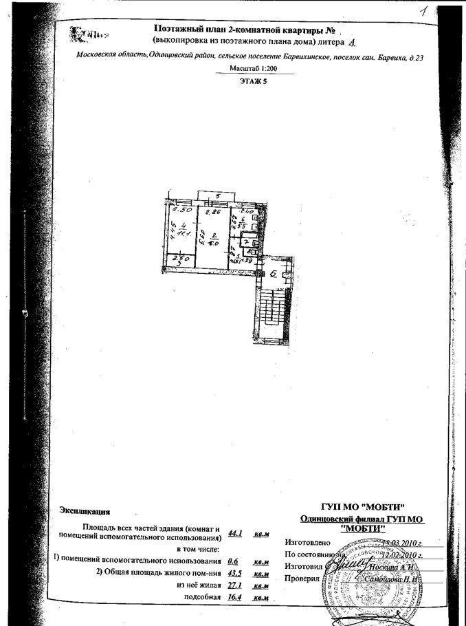 Продажа двухкомнатной квартиры поселок Барвиха, цена 3588092 рублей, 2020 год объявление №426191 на megabaz.ru