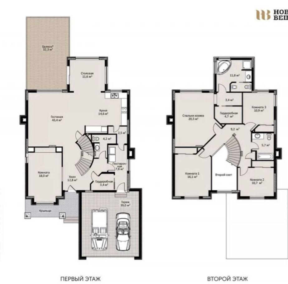 Продажа дома поселок Вешки, Зелёный бульвар 67, цена 40500000 рублей, 2020 год объявление №424011 на megabaz.ru