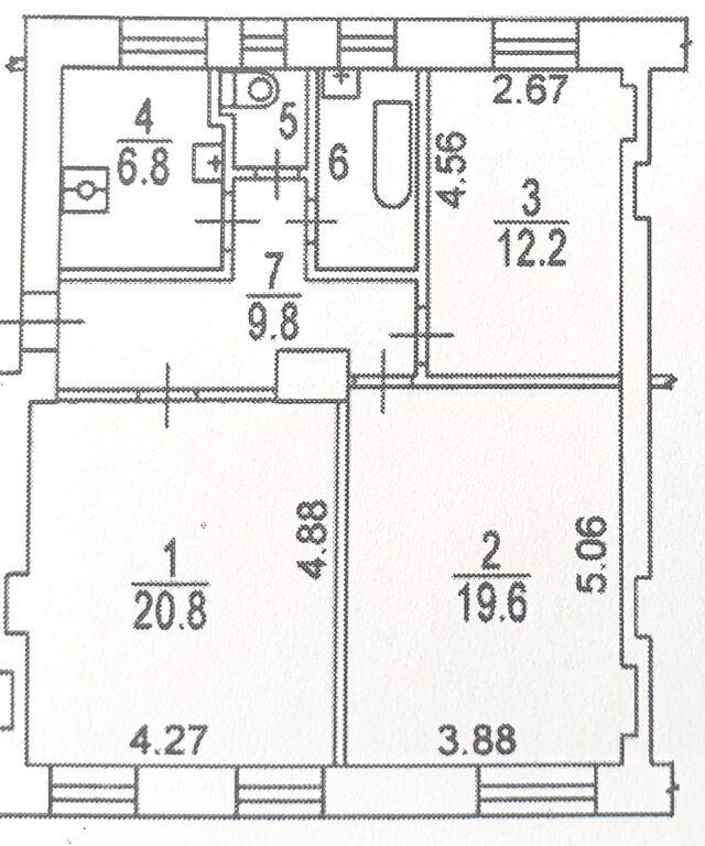 Продажа трёхкомнатной квартиры Москва, метро Шаболовская, Городская улица 5, цена 12990000 рублей, 2020 год объявление №424668 на megabaz.ru