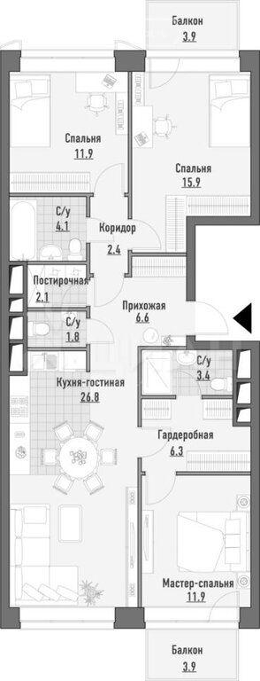 Продажа трёхкомнатной квартиры Москва, метро Марьина роща, улица Сущёвский Вал 49с4, цена 33740000 рублей, 2020 год объявление №424737 на megabaz.ru