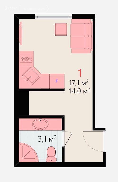 Продажа однокомнатной квартиры Москва, метро Волжская, улица Чистова 25, цена 4390000 рублей, 2020 год объявление №498073 на megabaz.ru