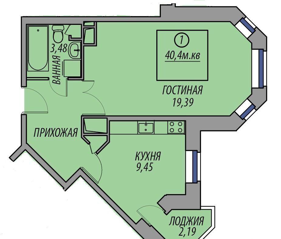 Продажа однокомнатной квартиры деревня Федурново, улица Авиарембаза, цена 2550000 рублей, 2020 год объявление №430010 на megabaz.ru