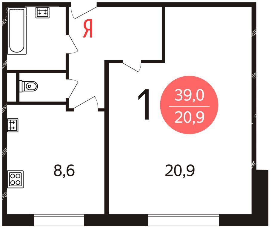 Продажа однокомнатной квартиры Москва, метро Ботанический сад, Палехская улица 21, цена 7500000 рублей, 2021 год объявление №568212 на megabaz.ru