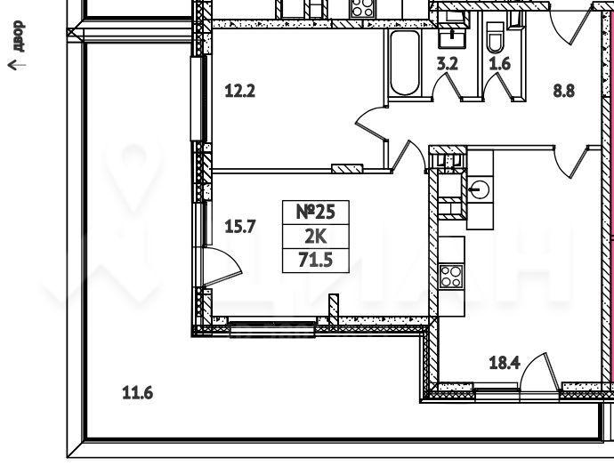 Продажа двухкомнатной квартиры деревня Горки, метро Домодедовская, цена 11000000 рублей, 2020 год объявление №495440 на megabaz.ru