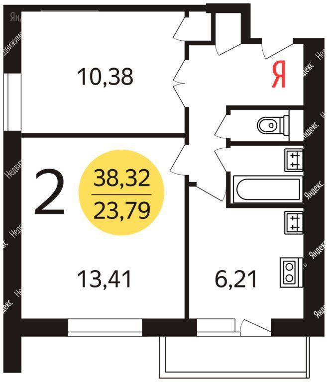Продажа двухкомнатной квартиры Москва, метро Теплый Стан, улица Тёплый Стан 12к1, цена 8400000 рублей, 2020 год объявление №490985 на megabaz.ru