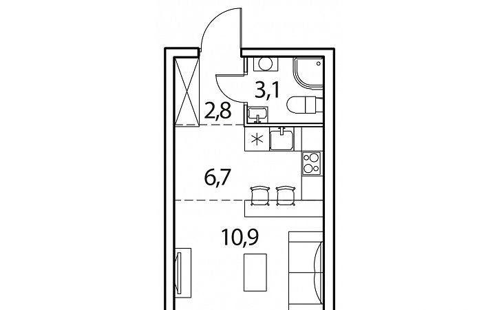 Продажа однокомнатной квартиры деревня Рузино, цена 2262981 рублей, 2020 год объявление №431061 на megabaz.ru