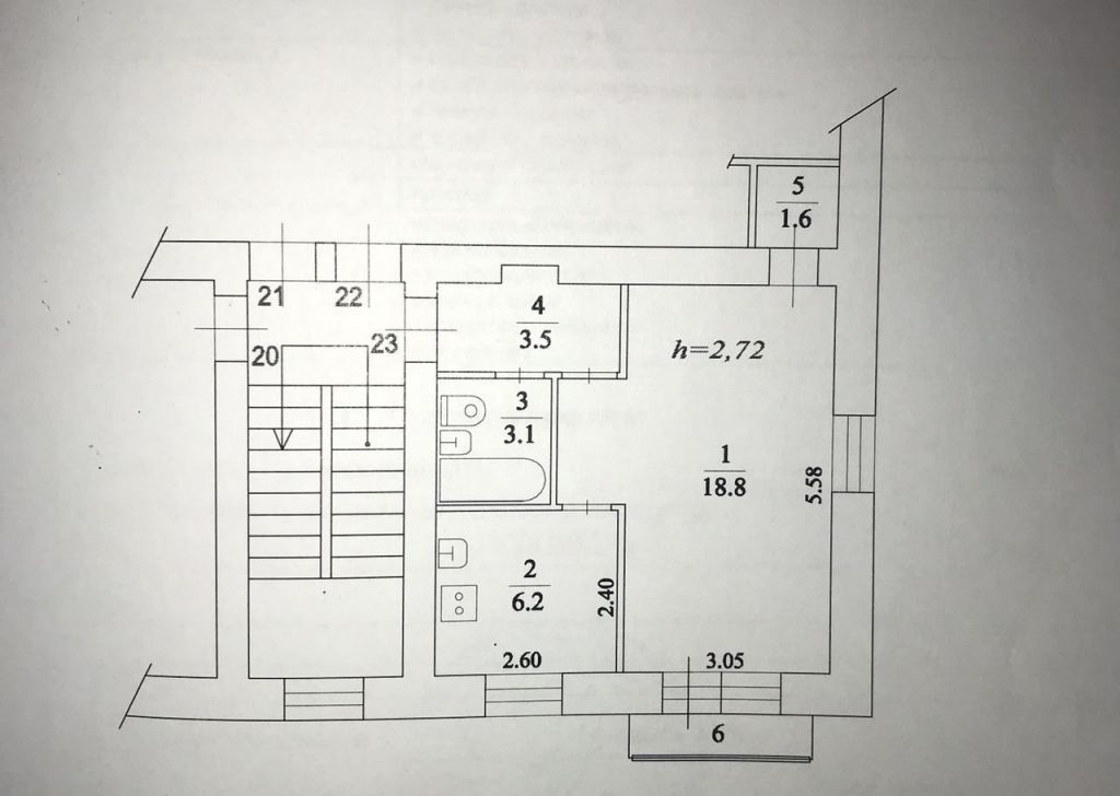 Продажа однокомнатной квартиры посёлок городского типа Родники, Большая Учительская улица 7, цена 2200000 рублей, 2021 год объявление №388171 на megabaz.ru