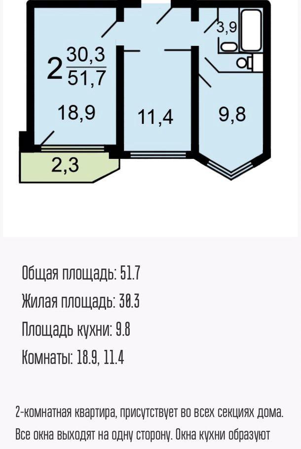 Продажа двухкомнатной квартиры Москва, метро Улица Академика Янгеля, Россошанская улица 4к5, цена 13000000 рублей, 2020 год объявление №442316 на megabaz.ru