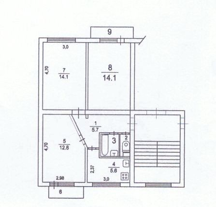 Продажа трёхкомнатной квартиры Кубинка, цена 2880000 рублей, 2021 год объявление №469886 на megabaz.ru