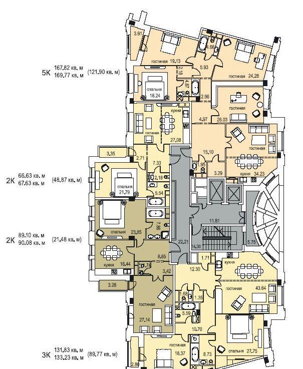 Продажа трёхкомнатной квартиры Москва, метро Новослободская, улица Фадеева 4А, цена 68000000 рублей, 2021 год объявление №469574 на megabaz.ru
