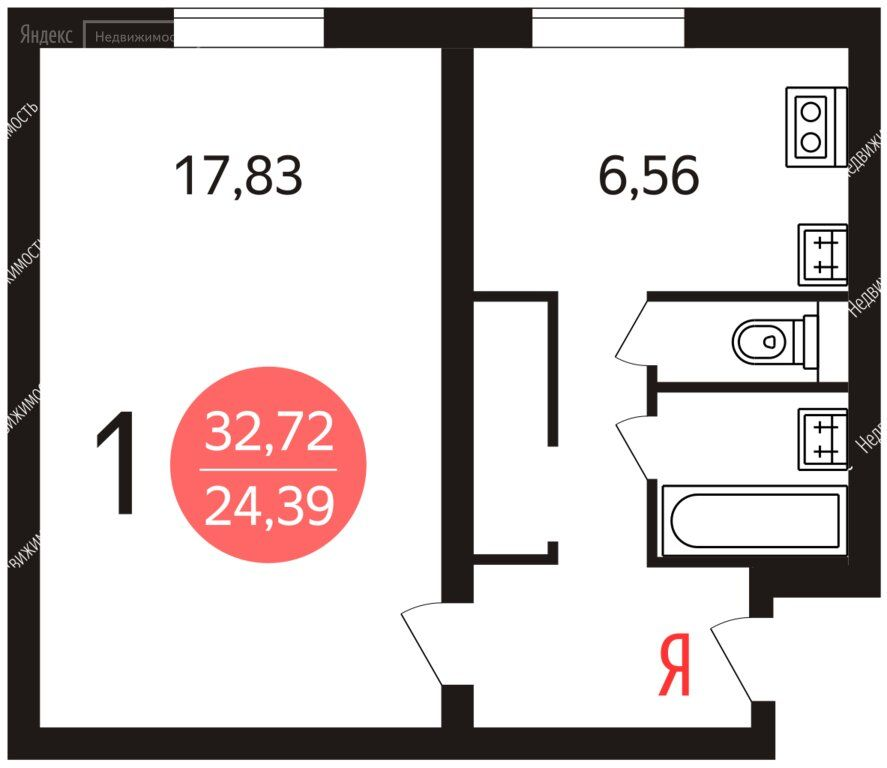 Продажа однокомнатной квартиры Москва, метро Варшавская, Болотниковская улица 6кБ, цена 7600000 рублей, 2021 год объявление №511516 на megabaz.ru