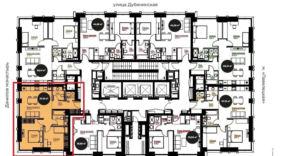 Продажа двухкомнатной квартиры Москва, метро Серпуховская, цена 15799000 рублей, 2020 год объявление №434330 на megabaz.ru