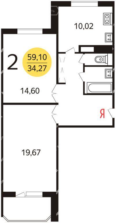 Продажа двухкомнатной квартиры Москва, метро ВДНХ, Маломосковская улица 21к1, цена 15000000 рублей, 2020 год объявление №444955 на megabaz.ru