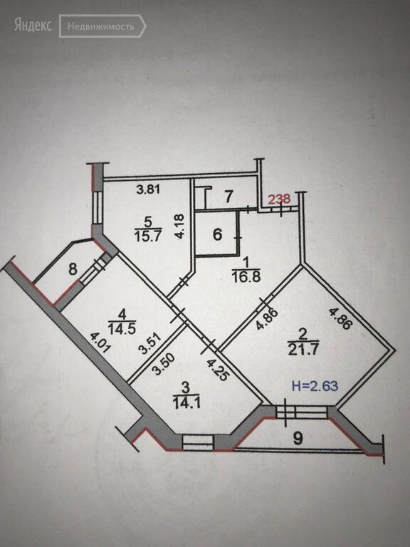 Продажа трёхкомнатной квартиры Сергиев Посад, улица Глинки 8А, цена 9500000 рублей, 2021 год объявление №578716 на megabaz.ru