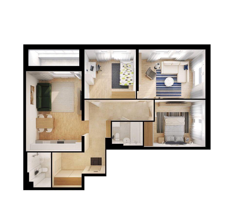 Продажа трёхкомнатной квартиры деревня Путилково, Сходненская улица 10к3, цена 11299920 рублей, 2020 год объявление №447073 на megabaz.ru
