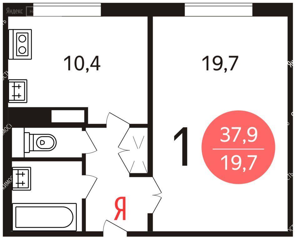 Аренда однокомнатной квартиры Москва, метро Крылатское, улица Крылатские Холмы 30к7, цена 80000 рублей, 2020 год объявление №1121447 на megabaz.ru