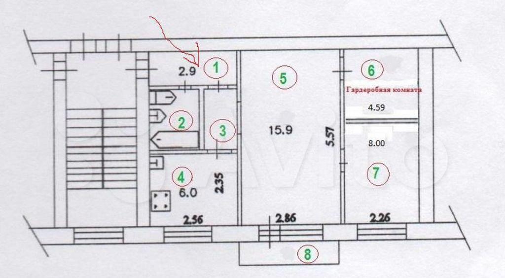 Аренда трёхкомнатной квартиры Кубинка, Армейская улица 3, цена 10000 рублей, 2021 год объявление №1389054 на megabaz.ru