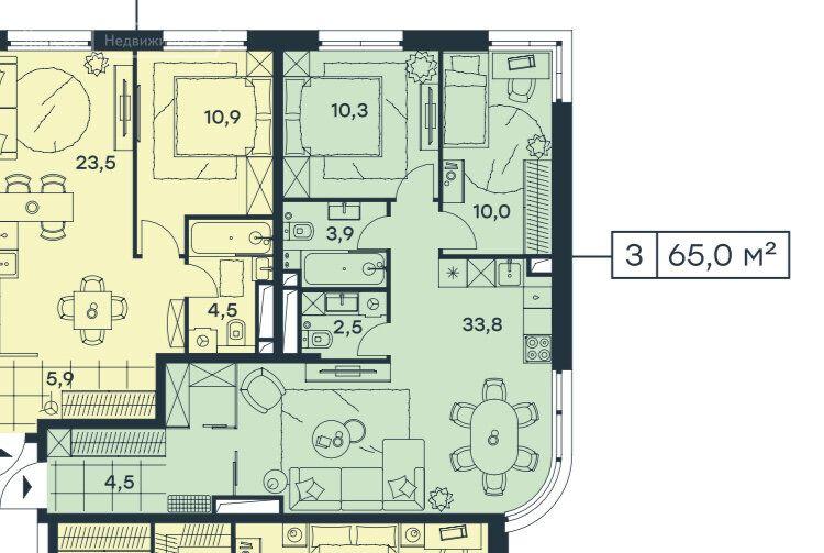 Продажа трёхкомнатной квартиры Москва, метро Тушинская, Волоколамское шоссе 81, цена 11999000 рублей, 2020 год объявление №496467 на megabaz.ru